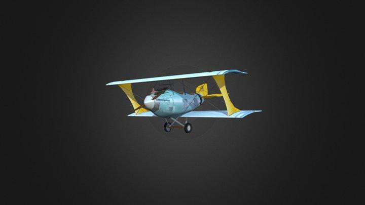 Low Poly Plane 3D Model