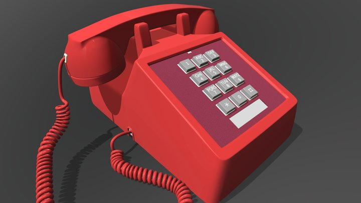 Western Electric Bell Phone 3D Model