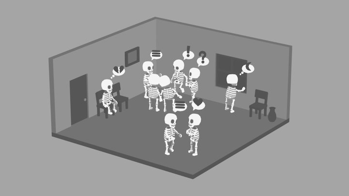 Skeleton Party 3D Model