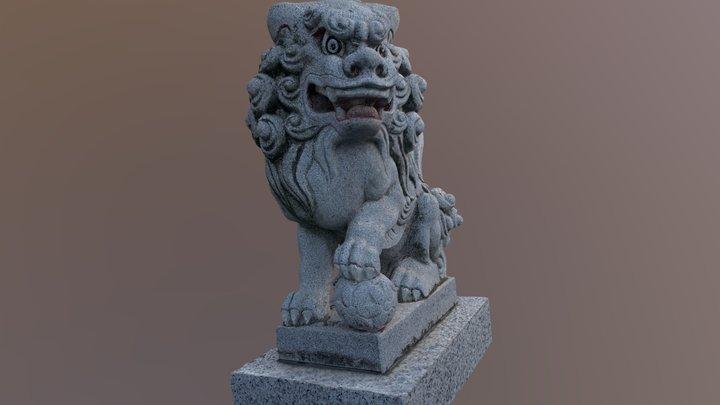 亀戸浅間神社の狛犬 3D Model