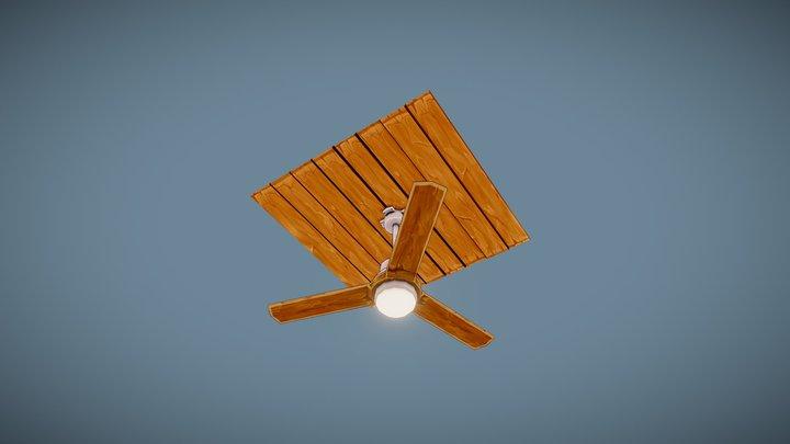 Stylized Ceiling fan 3D Model