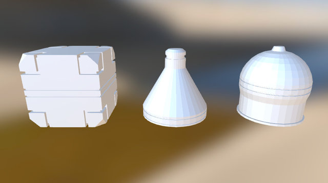 topsailor's primitives 3D Model