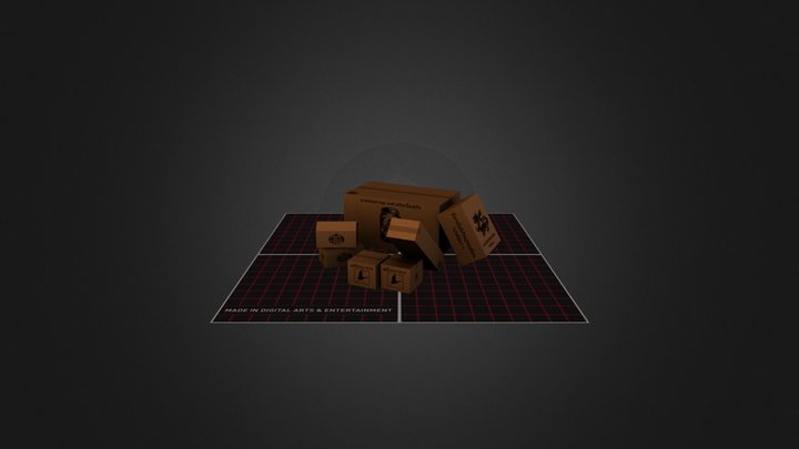 Thai Shipping Boxes 3D Model