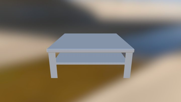 Cofee Table 3DS 3D Model
