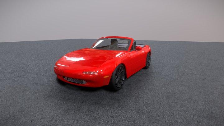 Mazda Miata NA 1990 (Detailed interior) 3D Model
