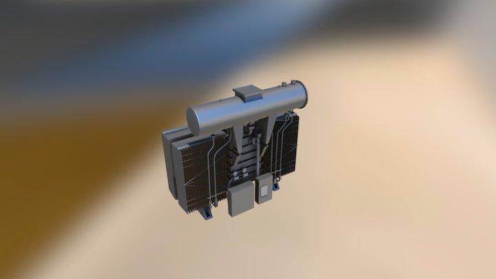electric transformer high bright scale UV 3D Model