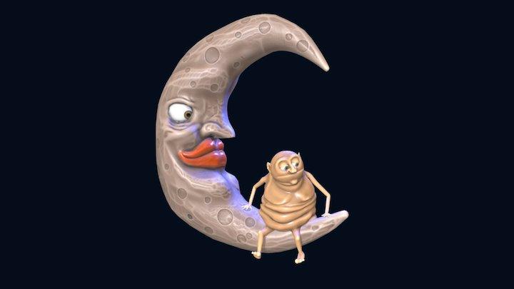 Man On Moon Anim 3D Model