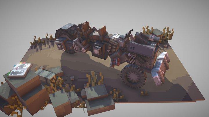 Science Fiction Carriers 3D Model