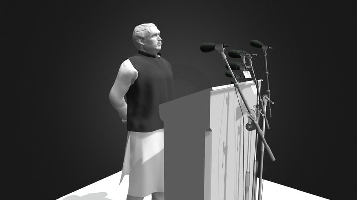 Sheikh Mujibur Rahman 3D Model