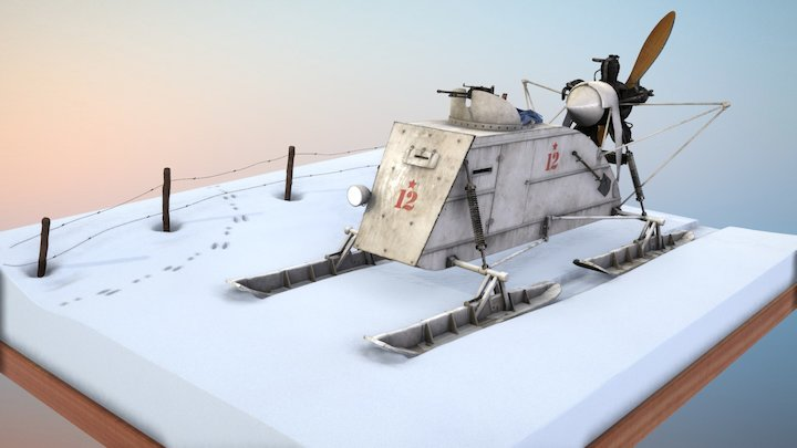 Aerosan NKL-26 / Аэросани НКЛ-26 3D Model