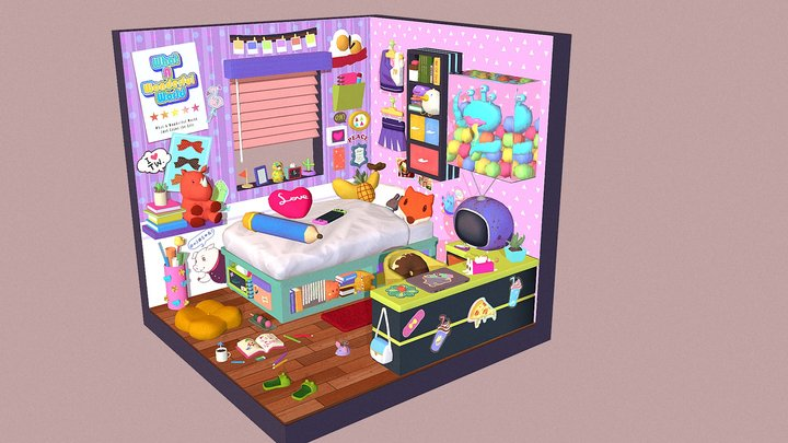 colorful room 3D Model