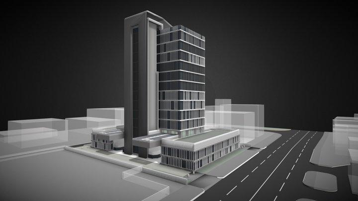 Limassol Buisiness Center 3D Model