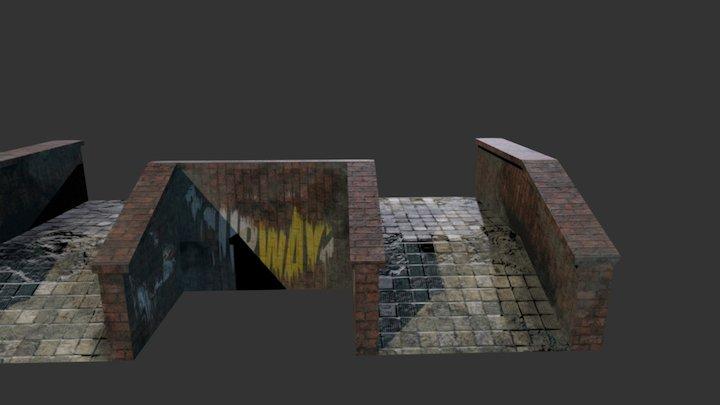 Old Ladder 3D Model
