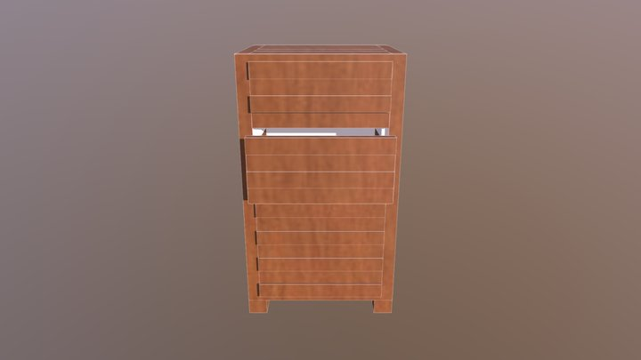 4 Drawer Chest of Drawers 3D Model