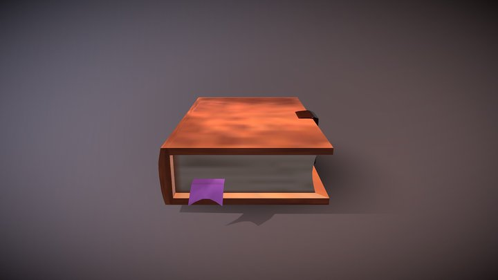 Book low poly - Ashe Bosworth 3D Model