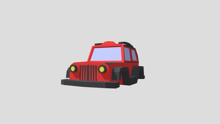 Lowpoly JEEP 3D Model