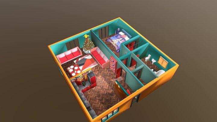 casetta per due 3D Model