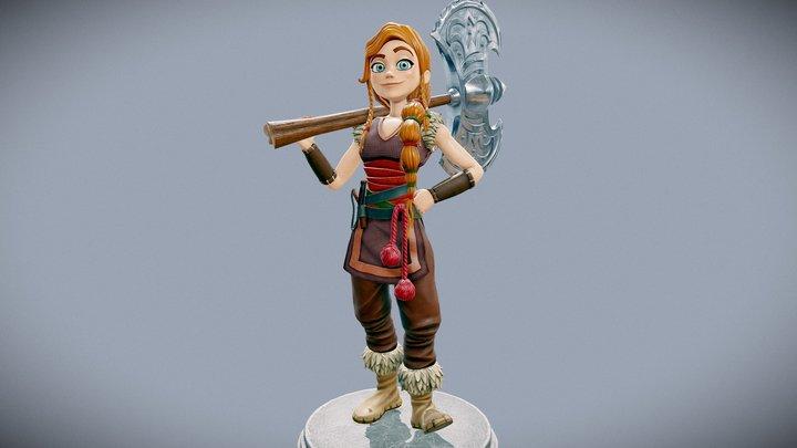 Viking Daughter 3D Model