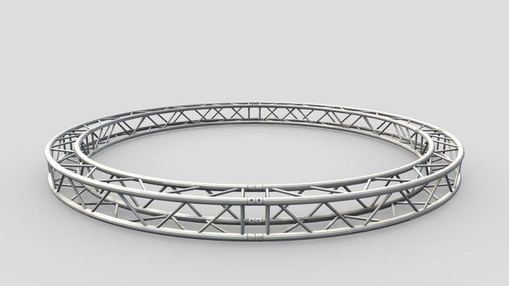 Circle Square Truss - Full diameter 400cm 3D Model