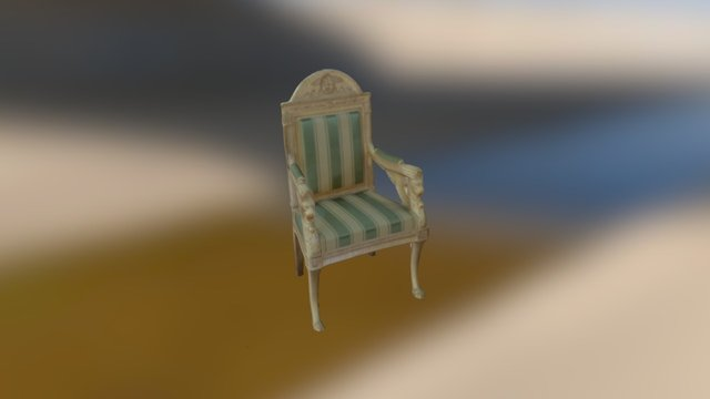 The Napoleonic White House Chair 3D Model