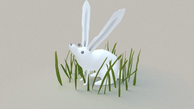 Rabbit in the grass 3D Model
