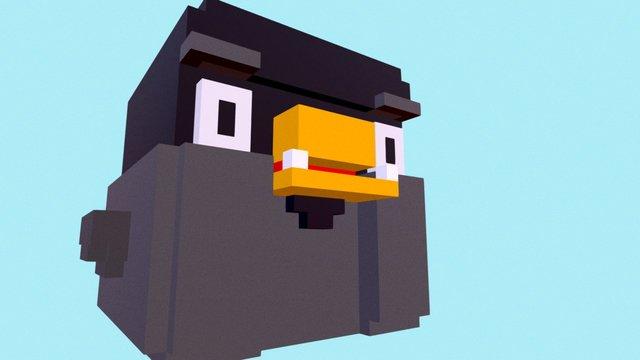 Daily Voxel #2 | Fat Bird 3D Model