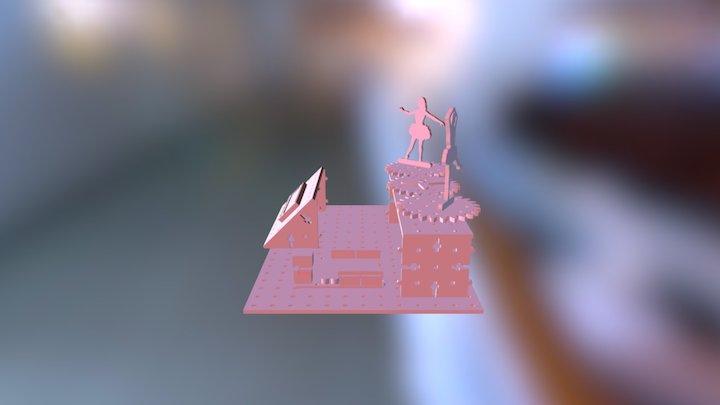 Ensamblado Bailarinas 3D Model