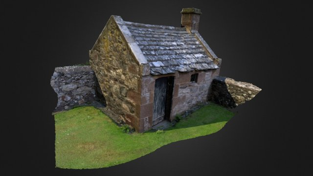 Watch House - Nether Graveyard, St Cyrus 3D Model