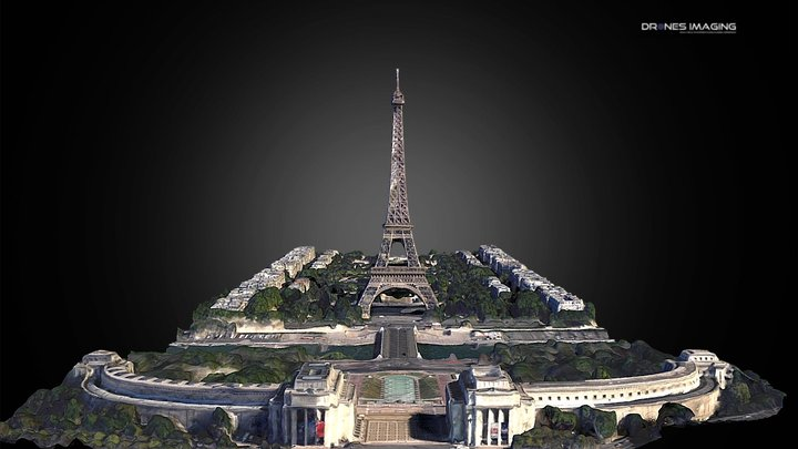 Eiffel Tower - France 3D Model