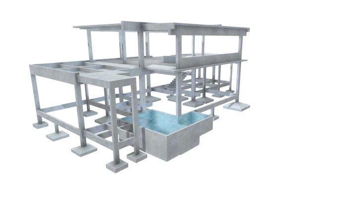 Projeto Estrutural Residencial 02 3D Model