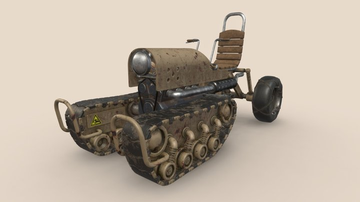🚙 A half tracked ATV 🔧 3D Model