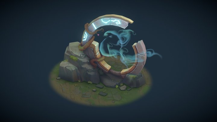 League of Legends style portal 3D Model