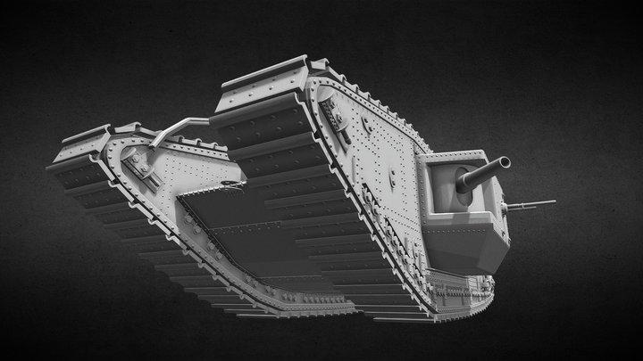 Mark-V tank 1917 (Work in progress) 3D Model