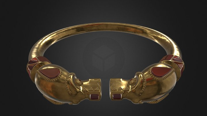Hunnish Bracelet 3D Model