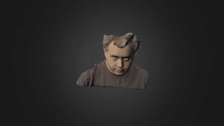 Me scanned with Structure Sensor and 4eyes 3D Model