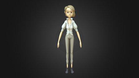 Heroine with UV 3D Model
