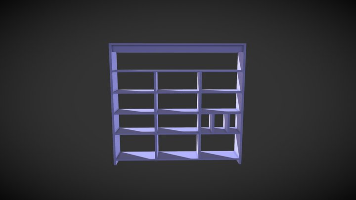 Book Shelf 3D Model