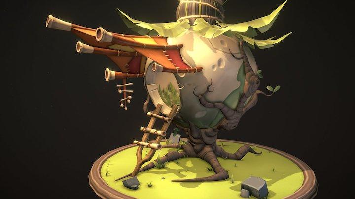 Stylized game prop | Put Put Onion Hut 3D Model