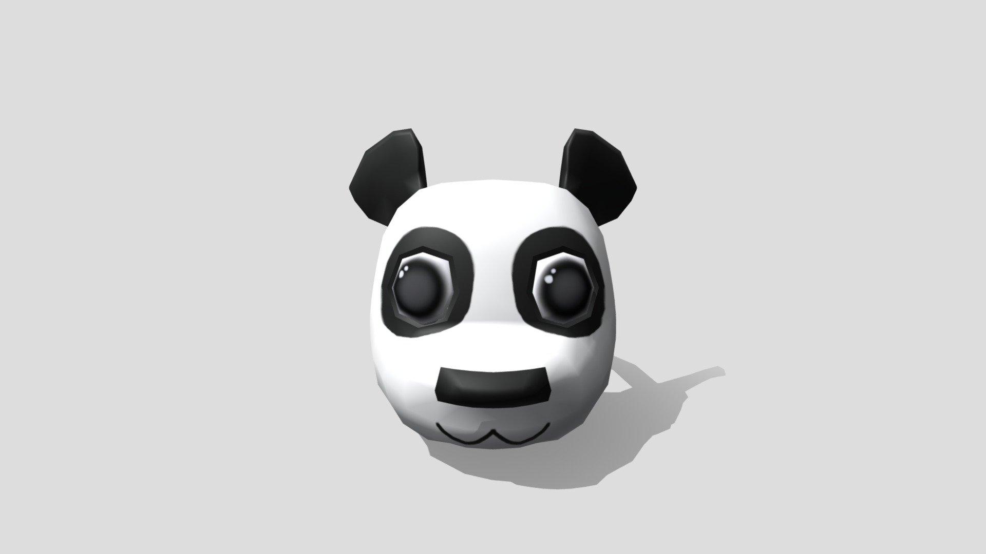Roblox Panda Mask Concept 3d Model By Hiskell Savannah