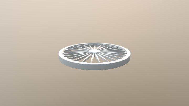 Ashoka Chakra 3D Model