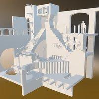 Escher-stairs 3D Model
