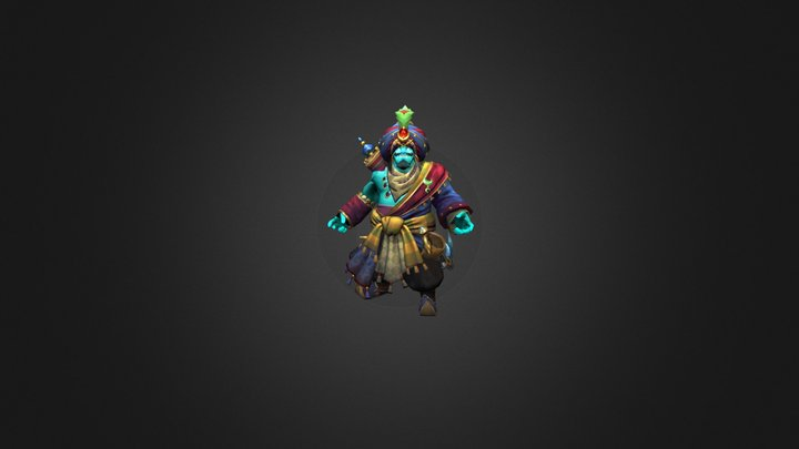 Сosmetics item set for Storm Spirit(Dota2) 3D Model