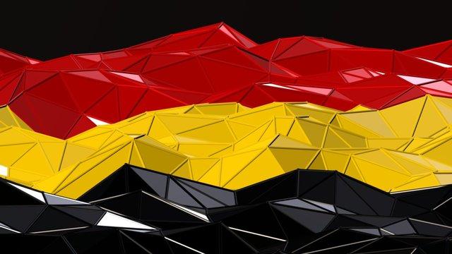 Belgian Flag 3D Model