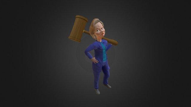 Hillary Clinton (Bash The Vote 2016) 3D Model
