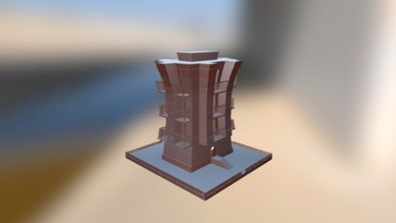Stylized Buiding 3D Model