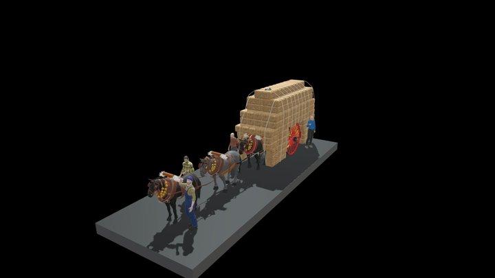 CARRO DE PALLA O D'ALFALS 3D Model