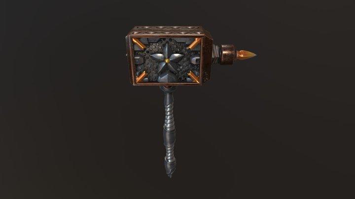 LowPoly Hammer with 3D Coat & MODO 3D Model
