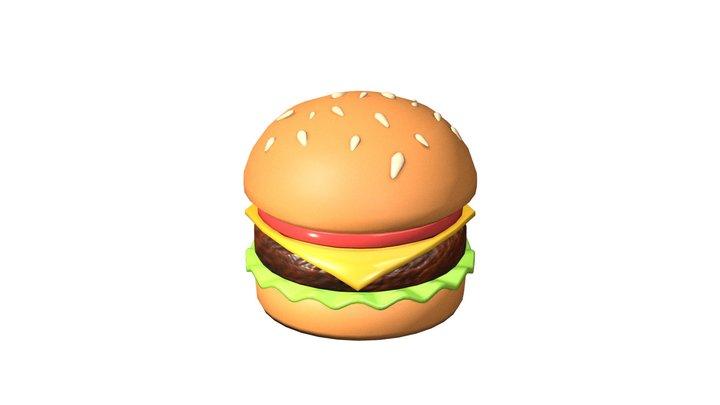 🍔 Hamburger emoji (Low poly) 3D Model