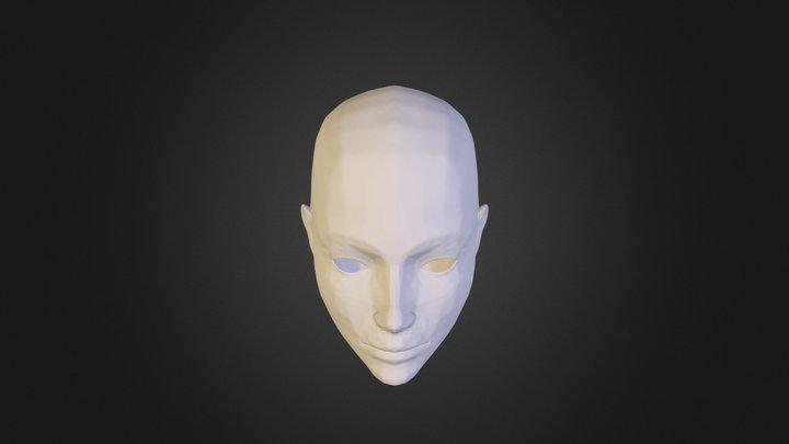 Female Face High Quality 3D Model