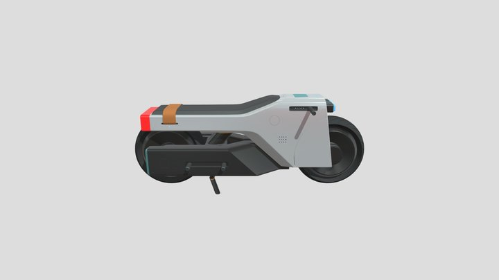 DELIMA Electric Motorcycle. 3D Model